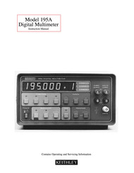 195A Digital Multimeter Instruction Manual | Keithley