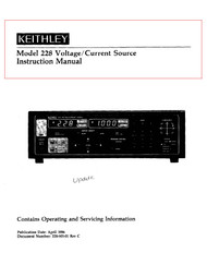 228 Instruction Manual | Keithley