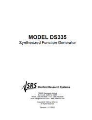 DS335 Synthesized Function Generator, Manual | Stanford Research Systems