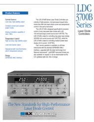 LDC 3700B Series, Laser Diode Controllers, Product Features   ILX Lightwave, Newport