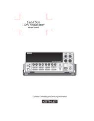 2410 1100V SourceMeter, Service Manual | Keithley