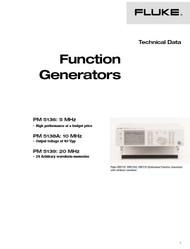 PM5136 / PM5138A / PM5139 Function Generators, Technical Data   Fluke