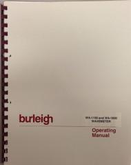 WA-1100 and WA-1600 Wavemeter Operating Manual   Burleigh