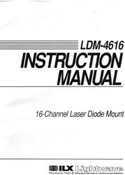 LDM-4616 16-Channel Laser Diode Mount, Instruction Manual  ILX Lightwave, Newport