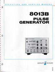 8013B Pulse Generator, Operating and Service Manual   HP