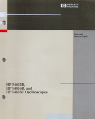 54615B 54161B and 54616C Ocilloscopes, User and Service Guide | HP Agilent Keysight