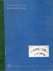 130 L-C Meter, Instruction Manual | Tektronix