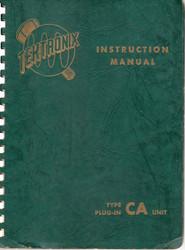 CA Unit Plug-In Manual   Tektronix