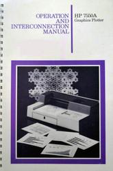 7550A Graphics Plotter Manual | HP Agilent Keysight