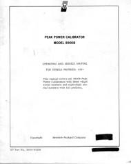 8900B Peak Power Calibrator, Operating and  Service Manual | HP