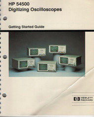 54500 Digital Oscilloscope, Operation Guide | HP