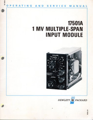17501A 1MV Multiple-Span Input Module, Operation & Service Manual | HP