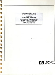 6621A,6622A,6623A,6624A,6627A Operating Manual | HP