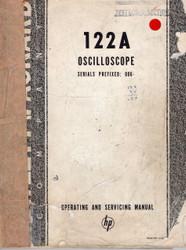 122A Oscilloscope, Operating and Servicing Manual | HP Agilent