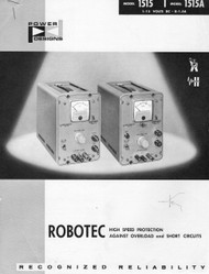 1515, 1515A Transistorized Power Supply, Operating Instructions | Power Designs