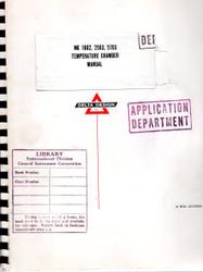 MK 1802,2503,5703 Temperature Chamber Manual | Delta Design