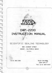 DAP-2200 Instruction Manual | Scientific Sealing Technology