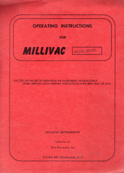 MV-73B Multi-Meter, Operating Instructions   Millivac