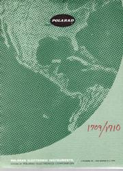 1709,1710 Modular Microwave Signal Generators, Instruction Manual | Polarad
