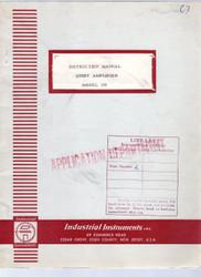 108 Quiet Amplifier, Instruction Manual | Industrial Instruments, Inc.