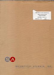 PFA 23 Pen Function Amplifier, Instruction Manual | Scientific-Atlanta, Inc.