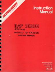 DAP Series Digital to Analog Programmer, Instruction Manual | Sorensen