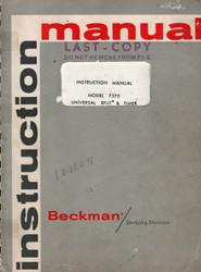 7370 Universal EPUT & Timer, Instruction Manual   Beckman