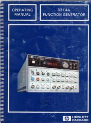 3314A Function Generator, Operating Manual   HP