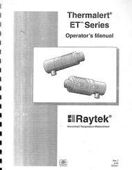 Thermalert ET Series, Operator's Manual | Raytek