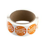 500ct  inch Special inch  Orange Fluorescent Label