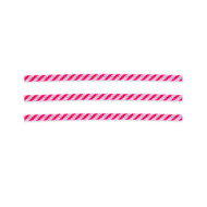 2000ct 4 inch  Bag Ties Red/White (Candy Stripe)