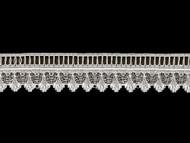 "White Edge Lace Trim - Beading - 1.375"" (WT0138E06)"