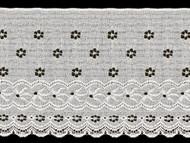 """White Edge Lace Trim Eyelet - 7.375"""" (WT0738E01)"""