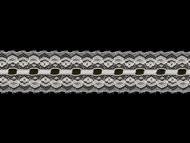 "White Edge Lace Trim - Beading - 1.75"" (WT0134E01)"