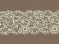 "Ivory Galloon Lace Trim w/ Sheen - 4.25"" (IV0400G02)"