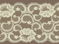 """Ivory Galloon Lace Trim w/ Sheen - 7.25"""" (IV0714G01)"""