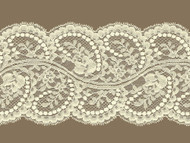 Ivory Galloon Lace Trim - 5.25'' (IV0514G01)