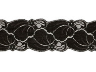 Black Galloon Lace Trim - 3.125'' (BK0318G01)