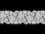 White Galloon Lace Trim w/ Eyelash - 3.5'' (WT0312G02)