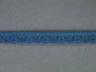 "Azure Blue Edge Lace Trim - 0.375"" (AZ0038E01)"
