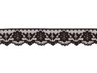 """Black Edge Lace Trim - 1.5"""" - (BK0112E02)"""