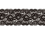 "Black Galloon Lace Trim - 3.5"" - (BK0312G03)"
