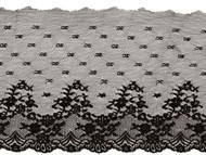 """Black Edge Lace Trim - 7.5"""" - (BK0712E01)"""