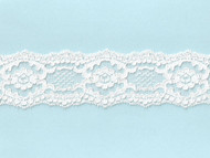 """White Galloon Re-embroidered Lace - 2.3750"""" - (WT0238G01)"""