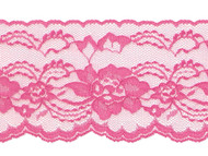 "Shocking Pink Edge Lace Stiff - 4"" (PK0400E01)"