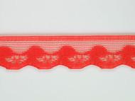 """Coral Pink Edge Lace Trim - 0.75"""" (CP0034E01)"""