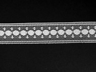 "White Insertion Lace Trim - 0.75"" (WT0034E02)"
