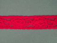 "Cherry Pink Edge Lace Trim - 1.25"" (CH0114E01)"