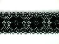 """Black Edge Lace Trim - 1.375"""" (BK0138E01)"""