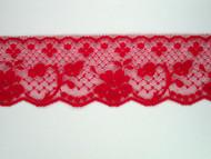 "Cherry Pink Edge Lace Trim - 2.125"" (CH0218E01)"